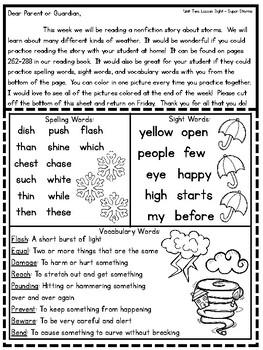 Journeys Second Grade - Unit 2 Parent Letters