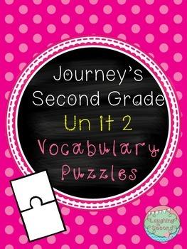 Journeys Second Grade - Unit 2 - Vocabulary Puzzles