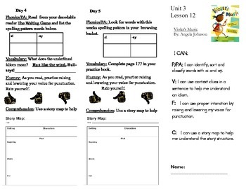Journeys, Second Grade, Unit 3, Lesson 13, Literacy Assignments