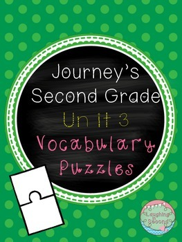 Journeys Second Grade - Unit 3 - Vocabulary Puzzles