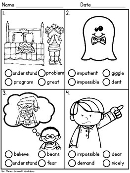 Journeys Second Grade Unit 3 Vocabulary Tests -Standardized Test Practice ITBS
