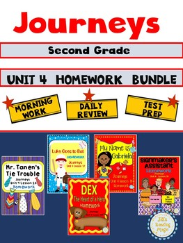 Journeys Second Grade Unit 4 Homework Bundle