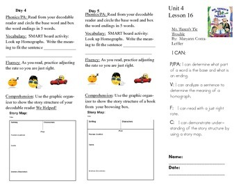 Journeys, Second Grade, Unit 4, Lesson 16, Literacy Assignment