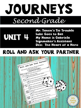 Journeys Second Grade Unit 4 Roll and Ask Your Partner