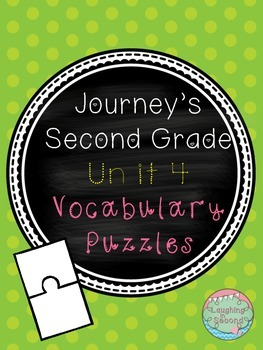 Journeys Second Grade - Unit 4 - Vocabulary Puzzles