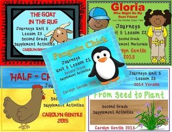 Journeys Second Grade Unit 5 Bundle 2014/2017 Version