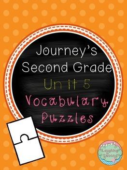 Journeys Second Grade - Unit 5 - Vocabulary Puzzles