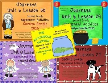 Journeys Second Grade Unit 6 Bundle 2012 Version