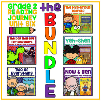 Journeys Second Grade - Unit 6 NO PREP Printable BUNDLE (Lessons 26-30)