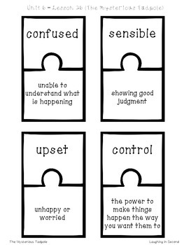 Journeys Second Grade - Unit 6 - Vocabulary Puzzles