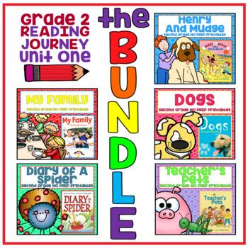 Journeys Second Grade - Unit 1 NO PREP Printable BUNDLE (Lessons 1-5)