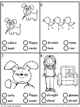 Second Grade Unit 1 Vocabulary Tests - Standardized Test Practice ITBS