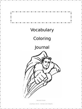 Journeys Vocabulary Coloring Book - Second Grade Entire Year