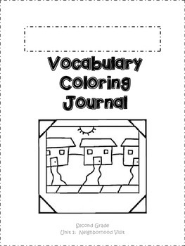 Journeys Vocabulary Coloring Grade 2 Theme 1