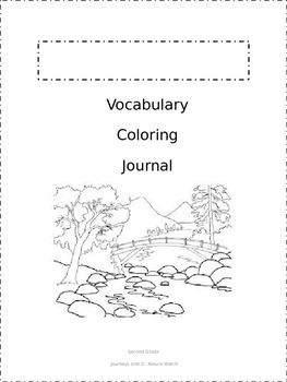 Journeys Vocabulary Coloring Grade 2 Theme 2