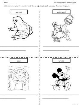 Journeys Vocabulary Coloring Grade 2 Theme 5