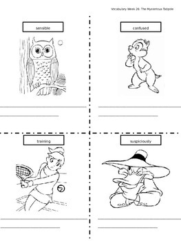 Journeys Vocabulary Coloring Grade 2 Theme 6
