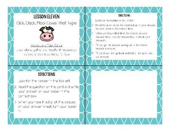 Journeys Second Grade Vocabulary Task Cards (Unit Three)