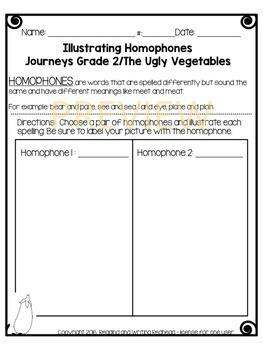 Journeys Second Grade Week 7 - The Ugly Vegetables