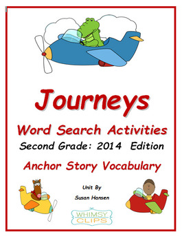 Journeys Second Grade Word Search (2014)