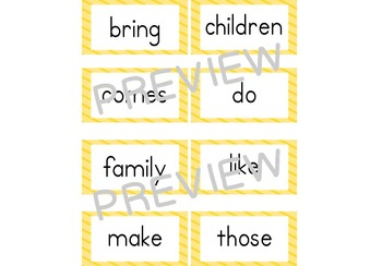 Old Version of Journeys Second Grade Word Wall Word Cards