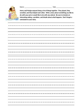 Journey's Second Grade Writing Prompts Unit 1