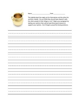 Journey's Second Grade Writing Prompts Unit 6
