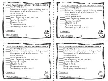 Journeys Second Grade Writing Rubrics Unit 4