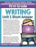 Journeys Short Answer Questions (Unit 1)