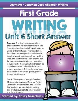 Journeys Short Answer Questions (Unit 6)
