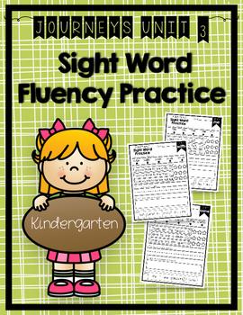 Journeys Sight Word Activities & Fluency Practice Kinderga