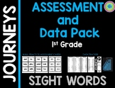 Journeys Sight Word Assessment Data Pack 1st grade (black/white)