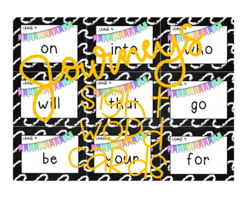 Journeys Sight Word Cards