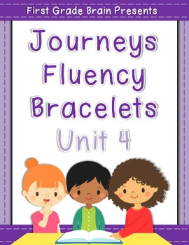 Journeys Sight Word Fluency Bracelets - works with Unit 4