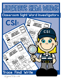 Kindergarten Journeys Sight Word Worksheets: Classroom Sig