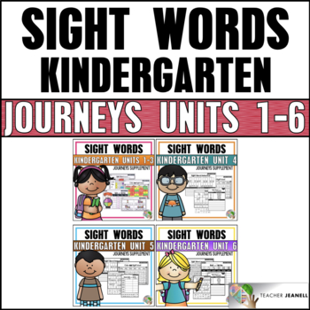 Sight Word Bundle (Journeys Sight Words Kindergarten Units 1-6 Supplement)