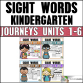 Journeys Sight Word Practice Kindergarten Units 1-6 Bundle