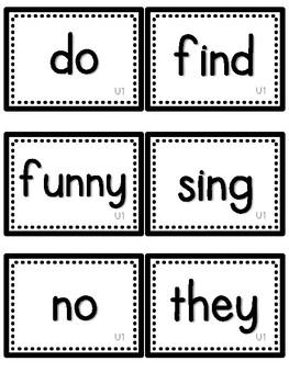 Journeys Sight Words- First Grade- Black/White