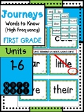 Journeys Sight Words-First Grade-Blue/Green