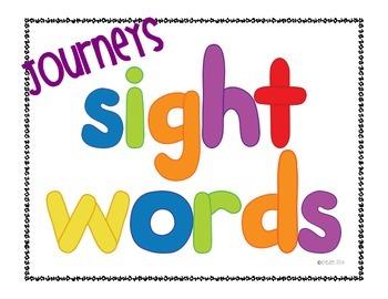 Journeys Sight Words Kindergarten