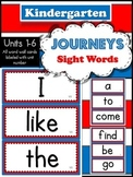 Journeys Sight Words - Kindergarten (40 Sight Words)