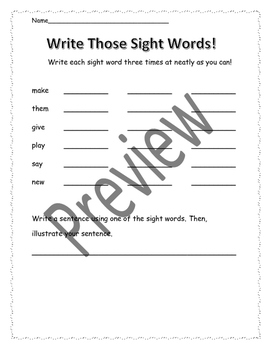 Journeys Sight Words Take Home Practice Pack Unit 5