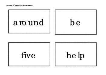 Journeys Sight Words cards for Word Wall 2nd Grade