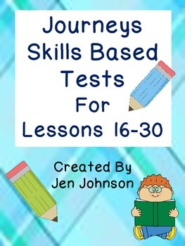 Journeys First Grade Skills Based Tests Lesson 16-30