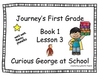 Journeys Slides First Grade Book 1 Lesson 3 Curious George at School