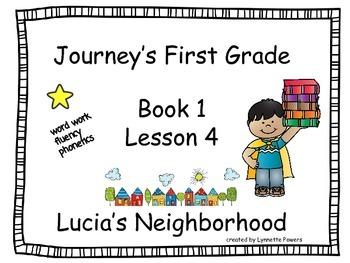 Journeys Slides First Grade Book 1 Lesson 4 Lucias Neighborhood