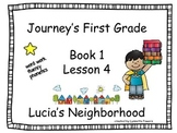 Journeys Slides First Grade Book 1 Lesson 4 Lucias Neighborhood