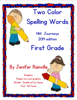 Journeys Spelling: Two color words