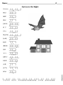 Journeys Spelling Activities for Unit 2 Lesson 6 Bat Loves the Night