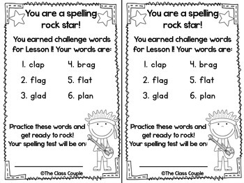 Journeys First Grade Challenge Spelling Words: Unit 1